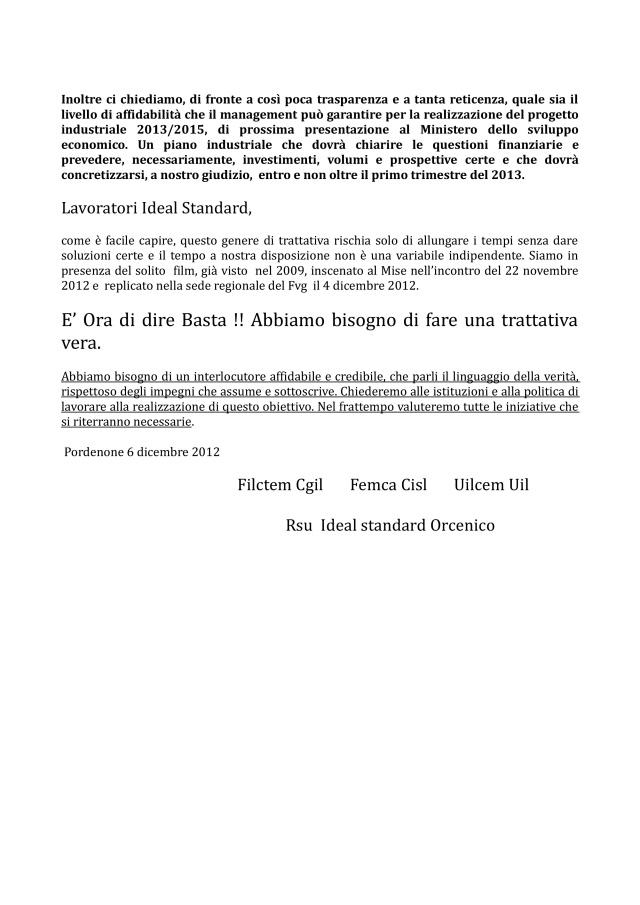comunicato ideal standard 06-12-12-002
