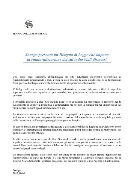 2013.10.24.comunicato presentazione ddl rinaturalizzazione siti industriali-001
