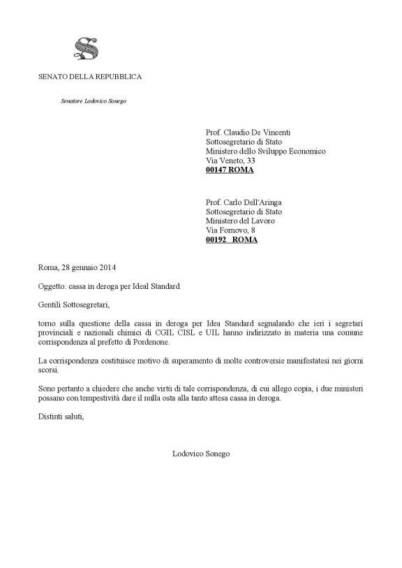 2014.01.28.Lettera a De Vincenti e dell'Aringa