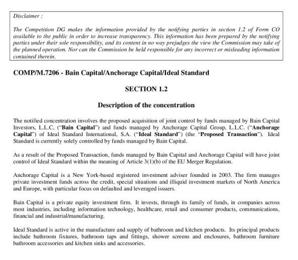 Bain Capital Anchorage Capital Ideal Standard-001